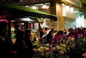 Flower Market at Chinese New Year in Hong Kong